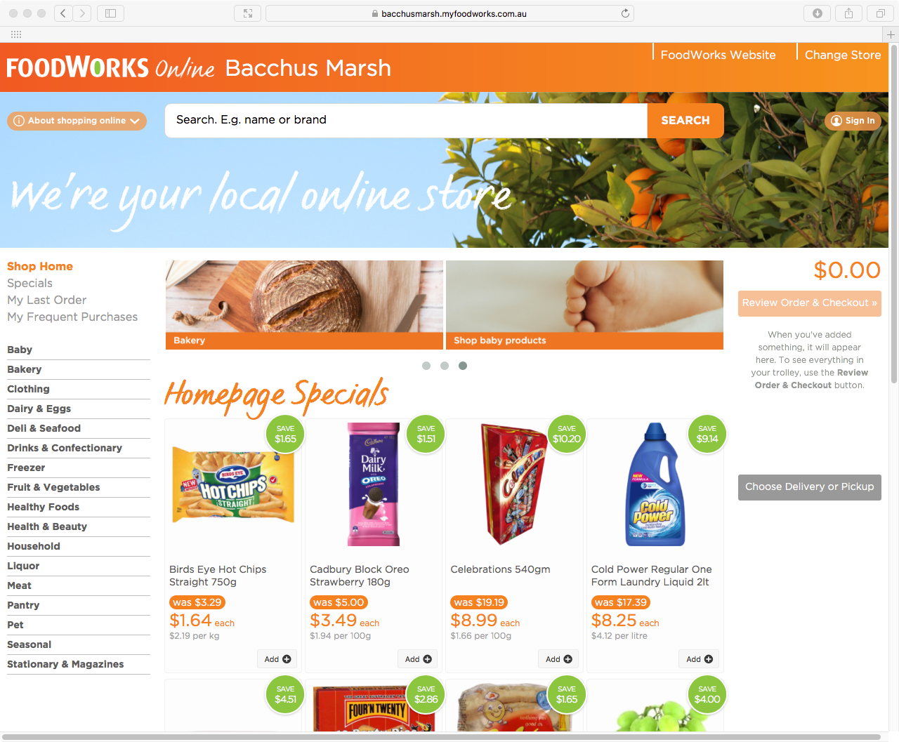 Supermarket groups online with Myfoodlink