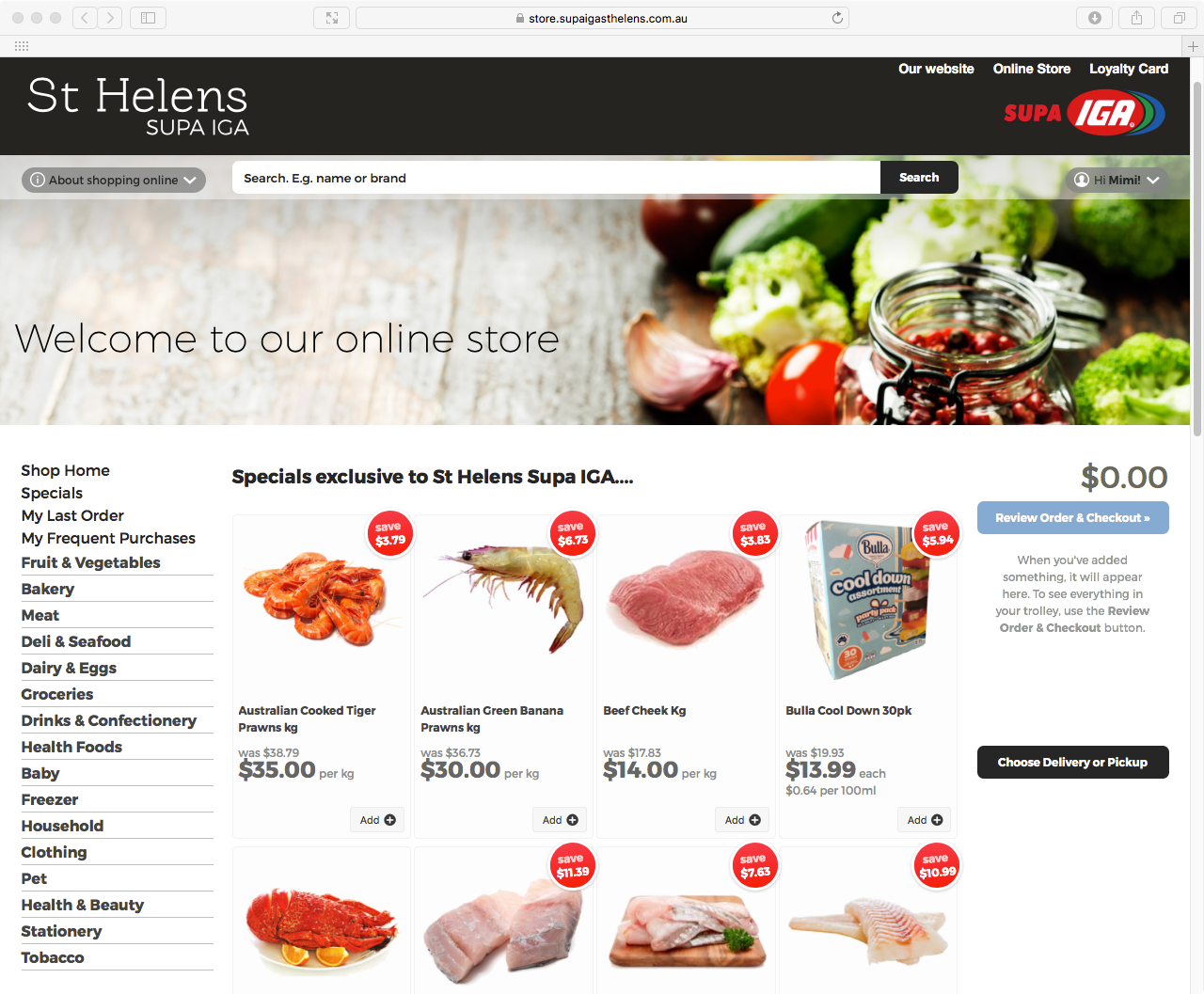 Image showing St Helen's SUPA IGA online store