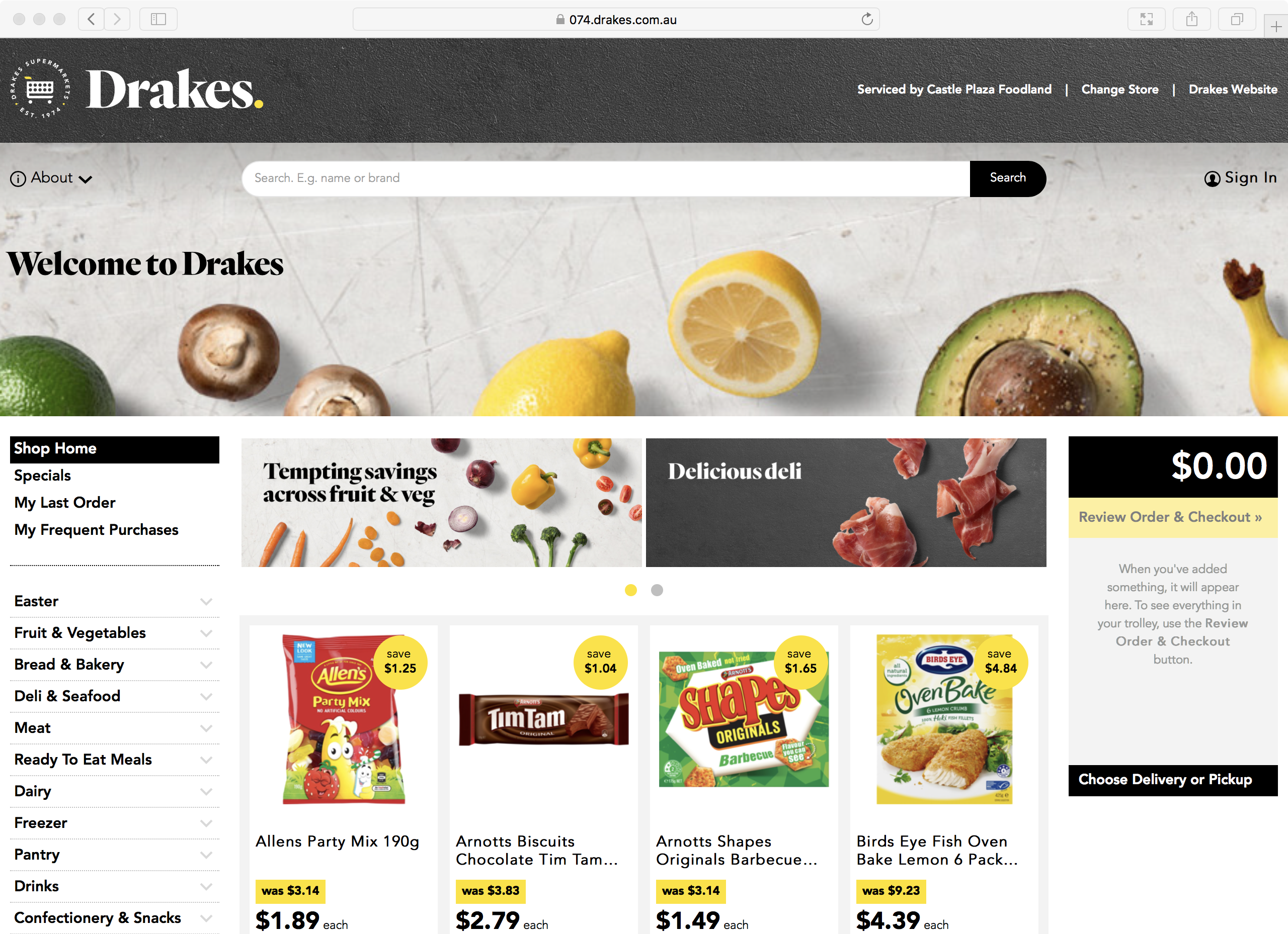 Visit the Castle Plaza Foodland online store